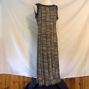 Perceptions Black and Taupe Dress